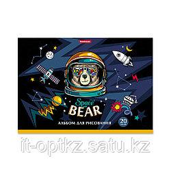 Альбом для рисования на клею ErichKrause® Space Bear, А4, 20 листов