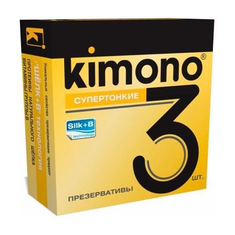 ПРЕЗЕРВАТИВЫ KIMONO (супертонкие) 3 шт.