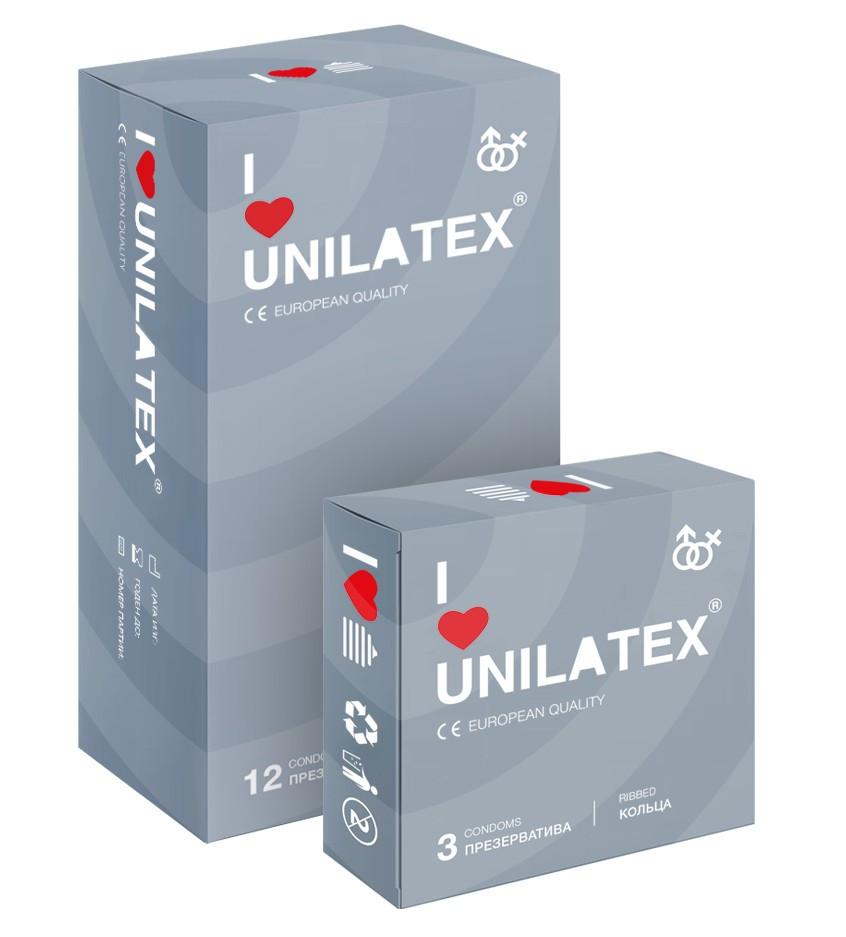 "ПРЕЗЕРВАТИВЫ UNILATEX ""RIBBED"" с рифленой поверхностью, 12 шт., арт. 3021"