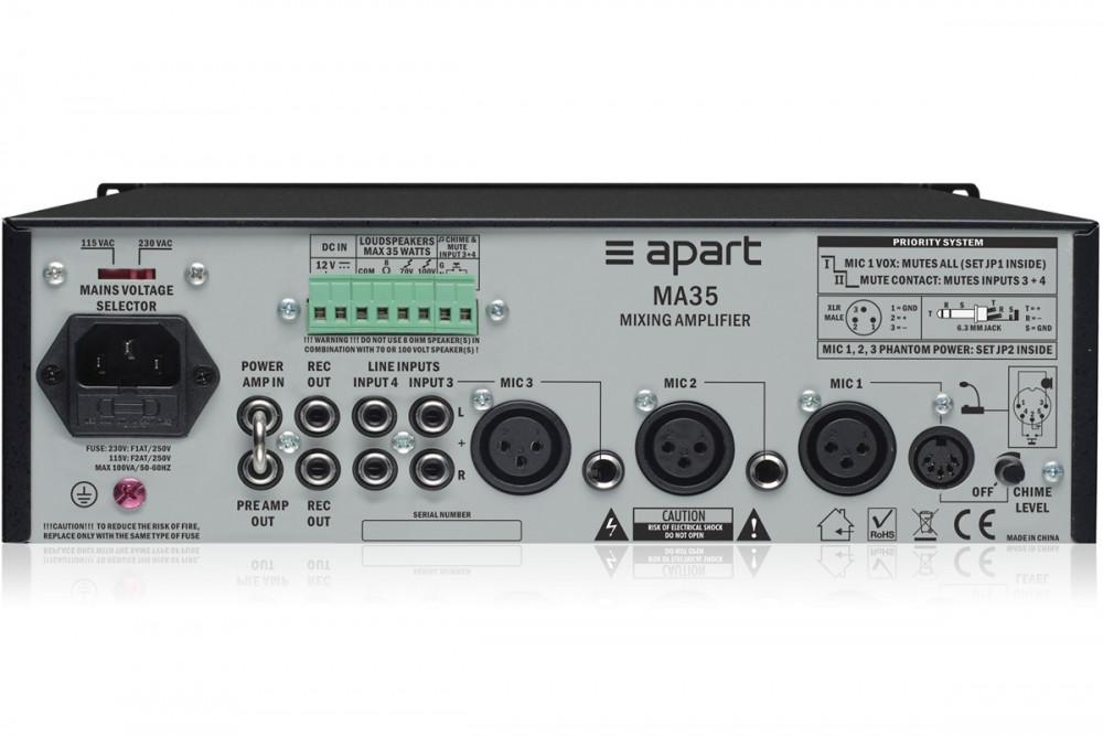 Трансляционный микшер-усилитель Apart  MA35