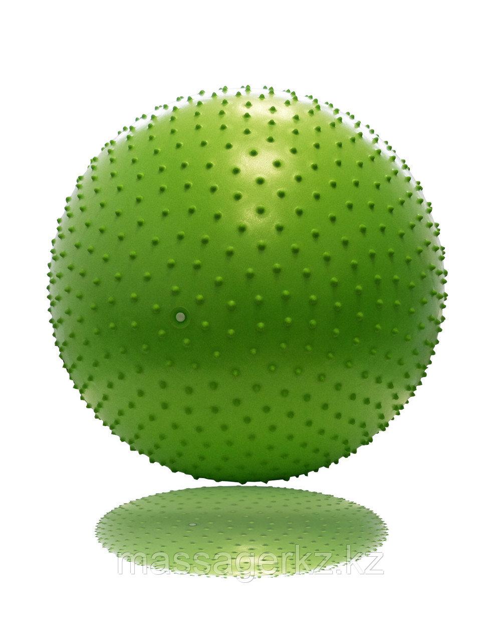 Гимнастический мяч с массажным эффектом 65 см с насосом