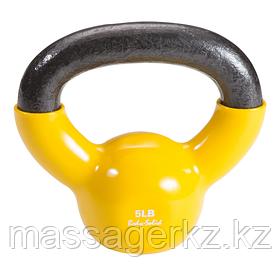Гиря 2,3 кг (5lb) обрезиненная желтая