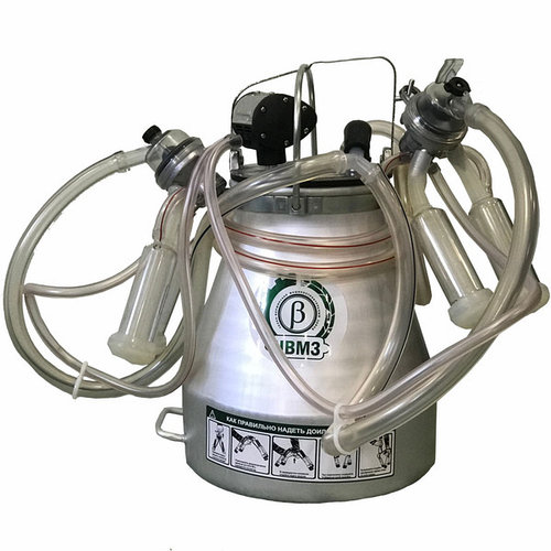Доильные аппараты без насоса (синхронного доения, алюминиевое ведро) (для доения 2-х лошадей, коз, верблюдов)