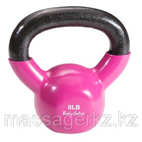 Гиря 3,6 кг (8lb) обрезиненная розовая