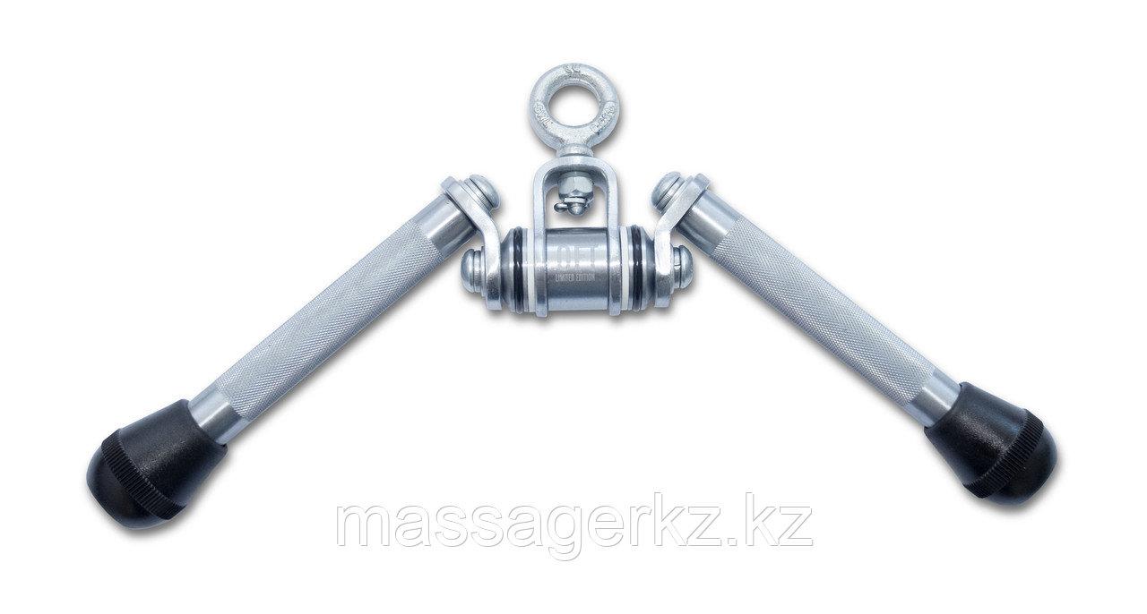 Рукоятка для тяги на трицепс V-образная хромированная Premium