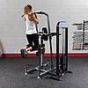 Блочный тренажер турник-брусья-отжимания с противовесом Body-Solid FCD-STK с весовым стеком 95 кг, фото 8