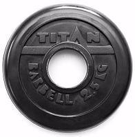 Диск обрезиненный черный 2,5 кг (51 мм)