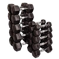 Набор гексагональных гантелей: 10 пар от 2,25 кг до 22,5 кг (шаг 2,25 кг)