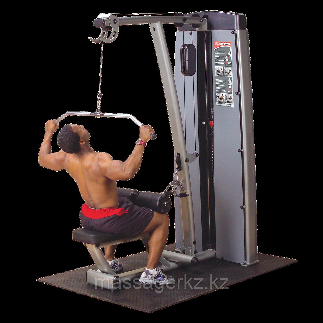 ОПЦИЯ к DGYM Двухпозиц тренажер для спины: вертикальная \ горизонтальная тяга с весовым стеком 95 кг