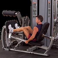 ОПЦИЯ к DGYM Двухпозиционный тренажер для жима ногами и тренировки икроножных мышц с весовым стеком