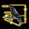 Регулируемая скамья (положительный \ отрицательный \ нулевой угол наклона) для коммерческого использ, фото 5