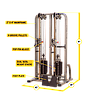 Сдвоенная блочная стойка с двумя весовыми стеками по 105 кг, фото 6
