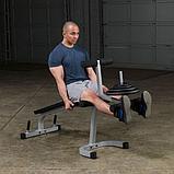 Тренажер разгибание ног сидя - сгибание ног лежа Body-Solid PLCE165X на свободном весе, фото 8