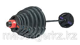 Штанга олимпийская 180 кг (диски с двумя хватами, черный гриф)