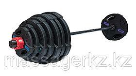 Штанга олимпийская 215 кг (диски с двумя хватами, черный гриф)