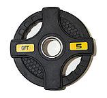 Штанга олимпийская 58 кг (диски с двумя хватами, черный гриф), фото 6