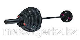 Штанга олимпийская 88 кг (диски с двумя хватами, черный гриф)