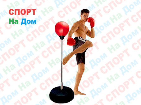 Боксерская груша напольная для отработки ударов (высота до 140 см), фото 2