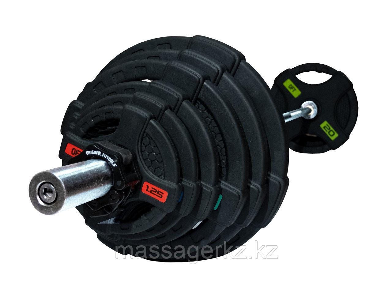 Штанга олимпийская 128 кг (диски с двумя хватами, [хромированный гриф)