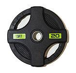 Штанга олимпийская 128 кг (диски с двумя хватами, [хромированный гриф), фото 8