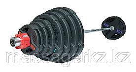 Штанга олимпийская 180 кг (диски с двумя хватами, хромированный гриф)