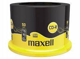 CD-R Диски 700mb 80 мин 50 шт MAXELL - шпиндель