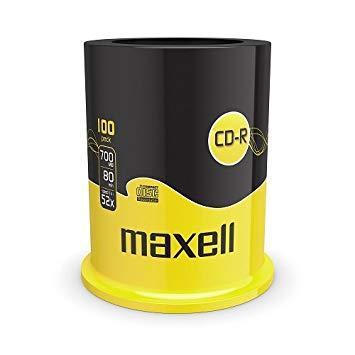 Диски CD-R  700mb 80 мин 100 шт MAXELL -шпиндель