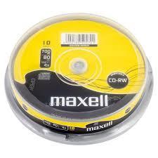 CD-RW  Диски 700mb 80 мин MAXELL  Перезаписываемые