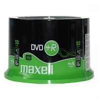 Диски DVD+R 4,7gb 120 мин 50шт/шпиндель MAXELL