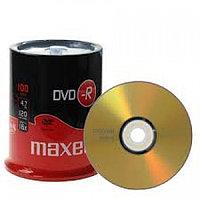 Диски DVD-R  MAXELL -шпиндель 4,7gb 120 мин 100шт