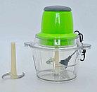 Электрический измельчитель «Молния» (Блендер с двухъярусным лезвием,овощерезка) 6в1, фото 2