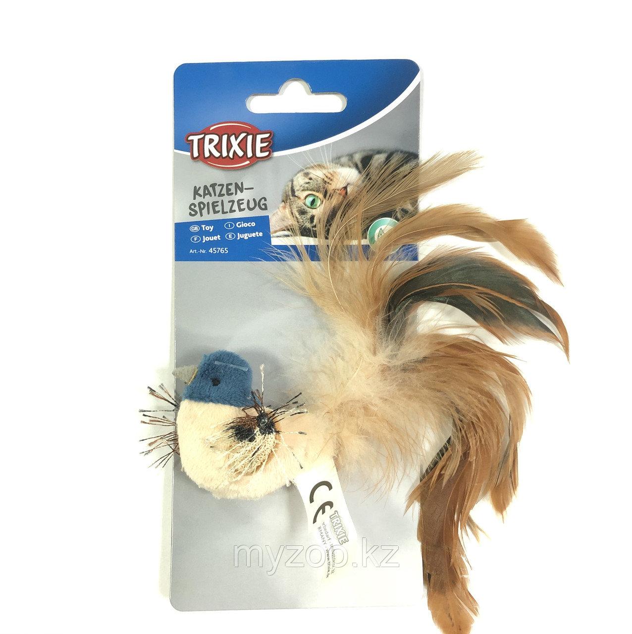 """Игрушка """"TRIXIE"""" для кошек """"Птица с перьями"""" 8 см"""