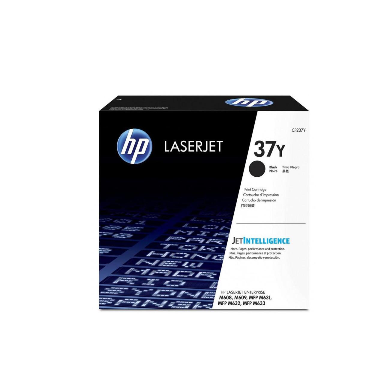 Лазерный картридж HP 37Y (Оригинальный, Черный - Black) CF237Y