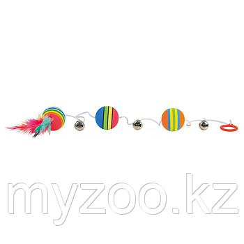 "Игрушки ""TRIXIE"" для кошек Мячики на резиночке с колокольчиками 80 см"