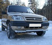 CHEVROLET NIVA 2002-2009 Защита переднего бампера d63