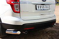 Ford Explorer 2012-2016 Защита заднего бампера уголки d76 (секции)