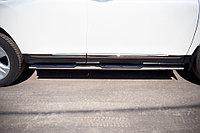 Toyota Highlander 2010-2013 Пороги труба d75х42 овал с накладками