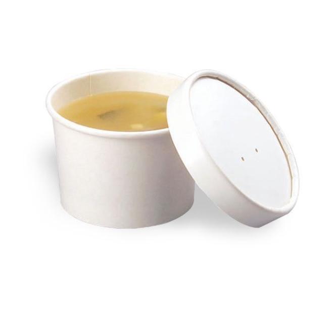 """Упаковка """"DoEco"""" d-75мм, h-60мм, 230мл ECO SOUP 8W, для супа, белая, 250 шт"""