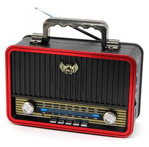 Радиоприемник в стиле ретро Kemai MD-BT {Bluetooth, FM, USB, TF card, AUX} (Красный / MD-1907BT)