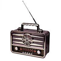 Радиоприемник в стиле ретро Kemai MD-BT {Bluetooth, FM, USB, TF card, AUX} (Серый / MD-1906BT)
