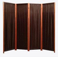 Ширма металлическая трубками (4-х секционная) темно-коричневого цвета
