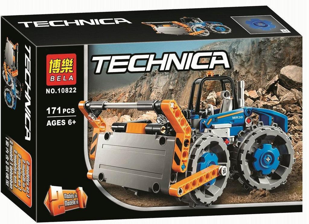 10822 Technica 2в1 Бульдозер конструктор 171дет 26*17см