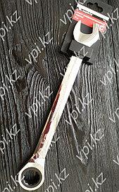 Рожково-накидной ключ с трещеткой, зеркальное хромирование, 24мм Matrix
