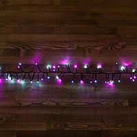 """Светодиодная гирлянда """"Мишура"""" -  4,5 метра, 300 лампочек, белый и розовый свет, 8 режимов свечения"""