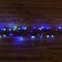 """Светодиодная гирлянда """"Мишура"""" -  4,5 метра, 300 лампочек, белый и синий свет, 8 режимов свечения"""