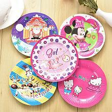 Бумажные тарелки для праздника