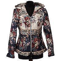 Женская дизайнерская куртка на молнии с капюшоном