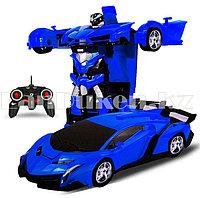 Машинка на радиоуправлении синяя трансформер (Deformation car)