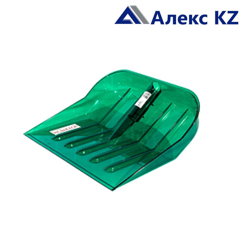 Лопата снеговая пластмассовая 460*400 прозрачн.зеленая