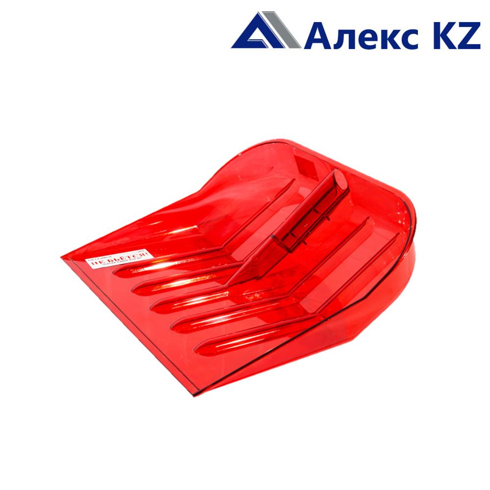 Лопата снеговая пластмассовая 460*400 прозрачн.красная